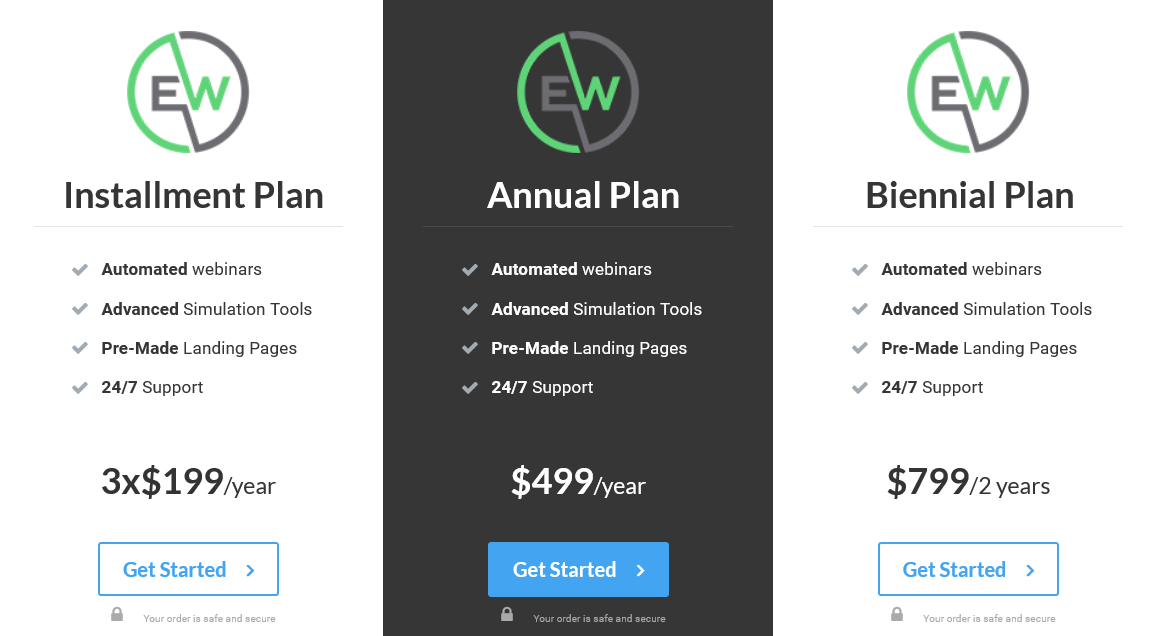 Ever Webinar Pricing