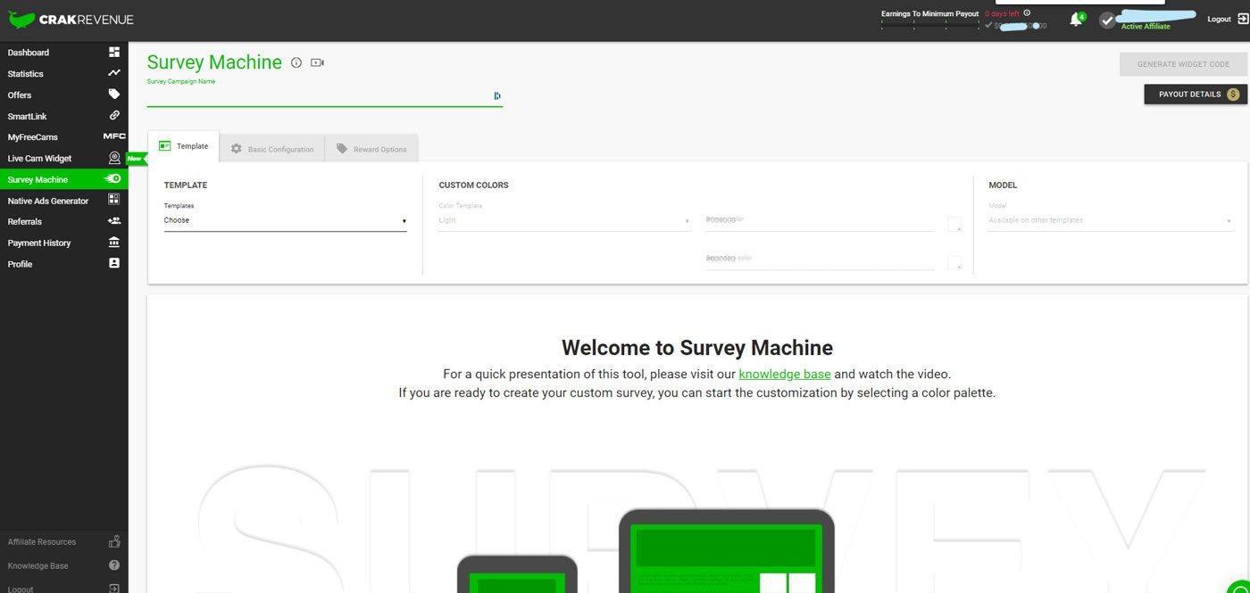 Survey machineCrakrevenue survey machine