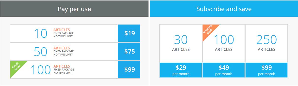 Articoolo Pricing