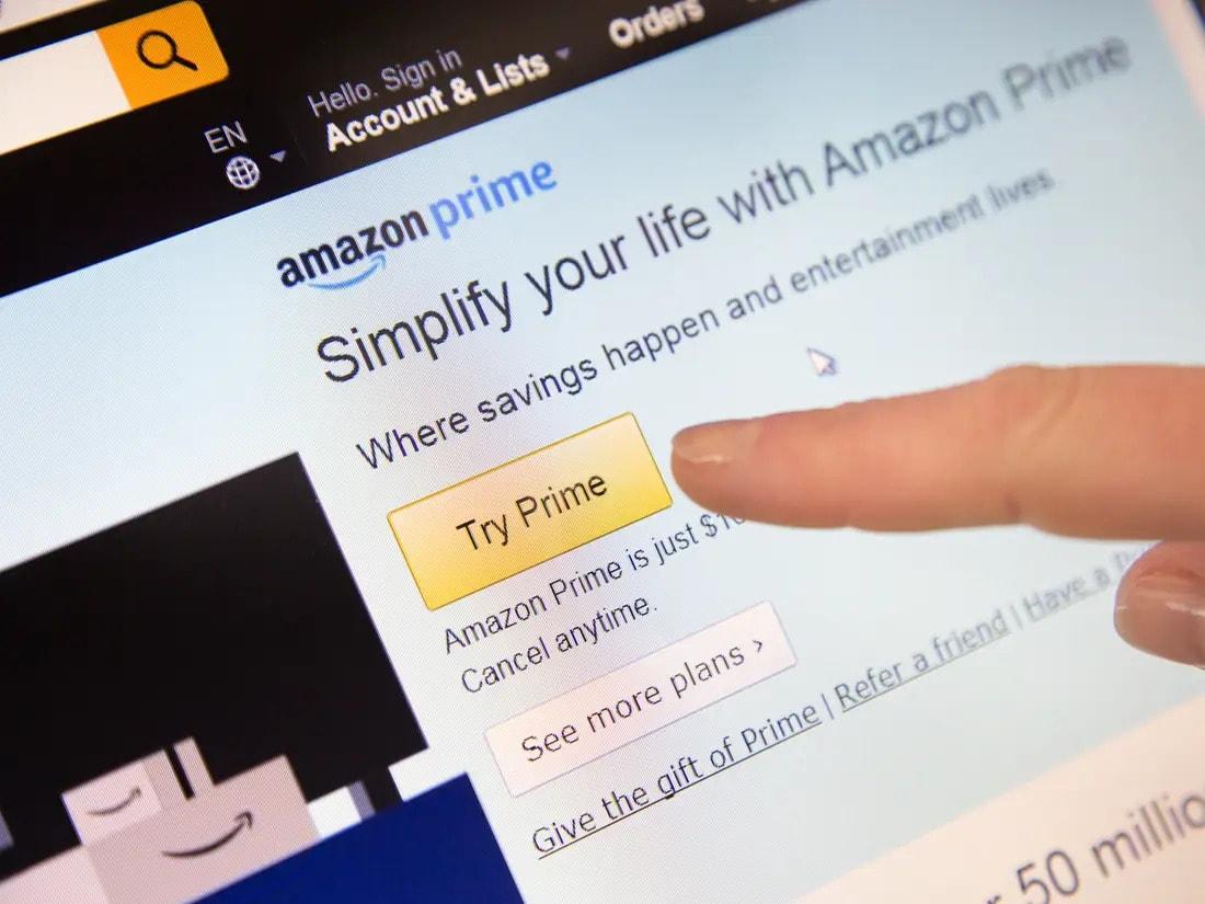 Become an Amazon prime member